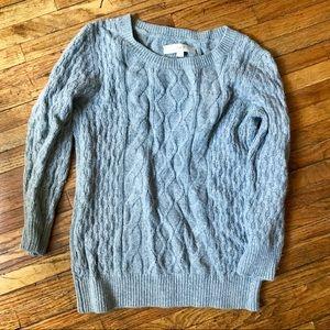 Sweaters - Grey cableknit sweater